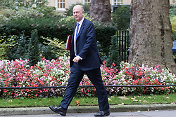 Downing Street, London, October 18th 2016. Transport Secretary Chris Grayling arrives at the weekly cabinet meeting at 10 Downing Street in London.