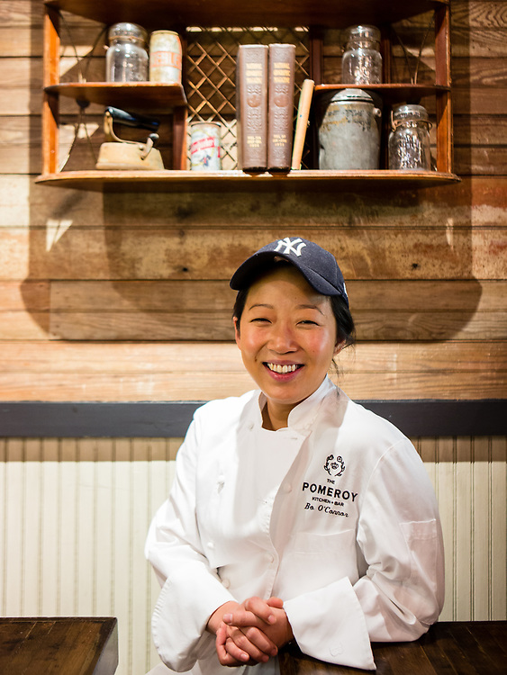 Astoria, NY - 8 December 2016. Chef Bo O'Connor of The Pomeroy.