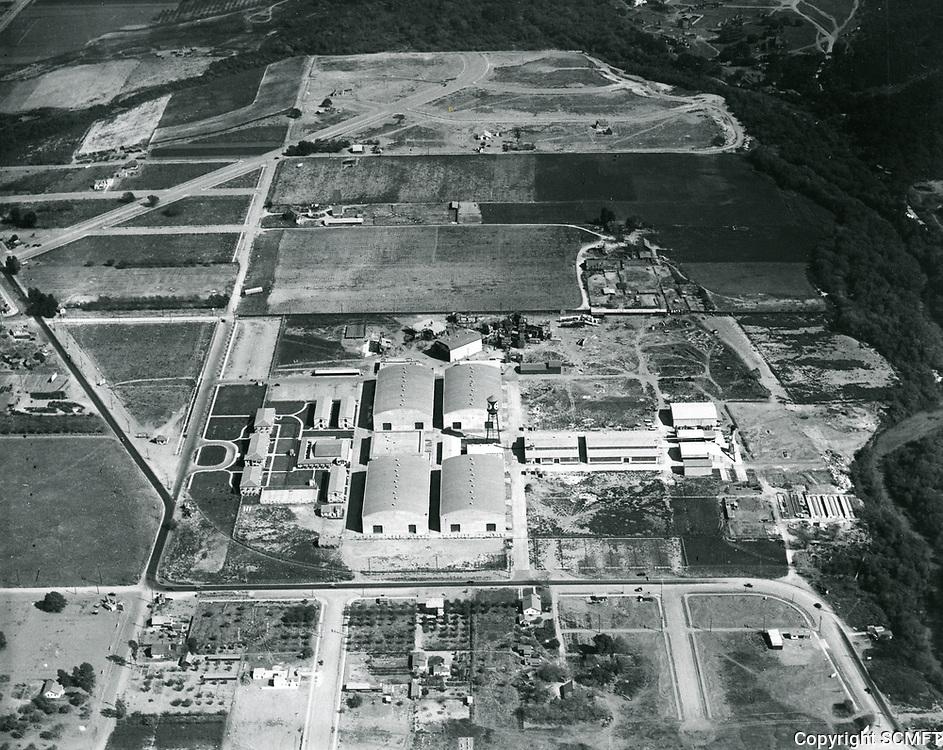 1926 Aerial photo of First National Studios, now Warner Bros. Studios
