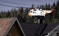 Sea King redningshelikopter<br /> Krokstadelva 23.09.2009<br /> Foto: Morten Olsen, Digitalsport