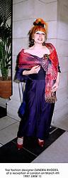 Top fashion designer ZANDRA RHODES,  at a reception in London on March 4th 1997.LWW 11