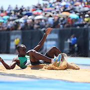 Pedro Pablo Pichardo, Cuba, winning the Men's Triple Jump Competition with a jump of 17.56m during the Diamond League Adidas Grand Prix at Icahn Stadium, Randall's Island, Manhattan, New York, USA. 13th June 2015. Photo Tim Clayton