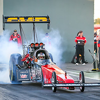 Allan 'Dobbo' Dobson driving Allan and Cheryl Greene's 'Crankenstein' Top Fuel Dragster at the Perth Motorplex's Top Fuel Challenge in November 2005