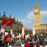 London April 20 2009 New day of protest by the Tamil demonstrator in front of the Palace of Westminster, they are asking for a cease firer after the Sri Lankan army started over the week end  fire pounding  in the Safe Zones. ..Standard Licence feee's apply  to all image usage.Marco Secchi - Xianpix tel +44 (0) 845 050 6211 .e-mail ms@msecchi.com .http://www.marcosecchi.com