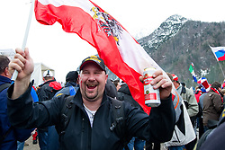 Fans during Flying Hill Team First Round at 3rd day of FIS Ski Jumping World Cup Finals Planica 2011, on March 19, 2011, Planica, Slovenia. (Photo By Matic Klansek Velej / Sportida.com)