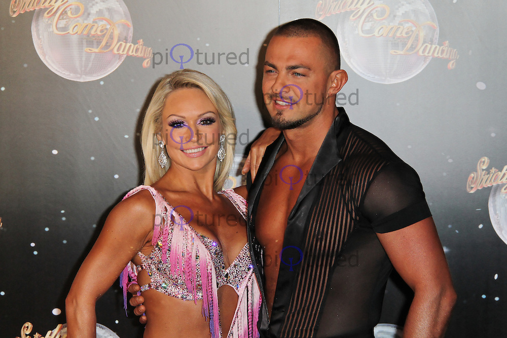 LONDON - SEPTEMBER 11: Kristina Rihanoff; Robin Windsor attended the Strictly Come Dancing Launch at the BBC Television Centre, London, UK. September 11, 2012. (Photo by Richard Goldschmidt)