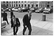 RUPERT MURDOCH arriving for the Charles Douglas-Home memorial service. St. Paul's. London. November 1985