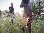 Hunting in the Gideru mountains with Kaunda and January, two Hadza hunters.