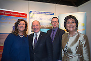 NO FEE PICTURES<br /> 23/1/16 Minister for Tourism Michael Ring and Maureen Ledwith, organiser of the Holiday World Show at the Great Northern Hotel stand at the Holiday World Show at the RDS in Dublin. Picture: Arthur Carron