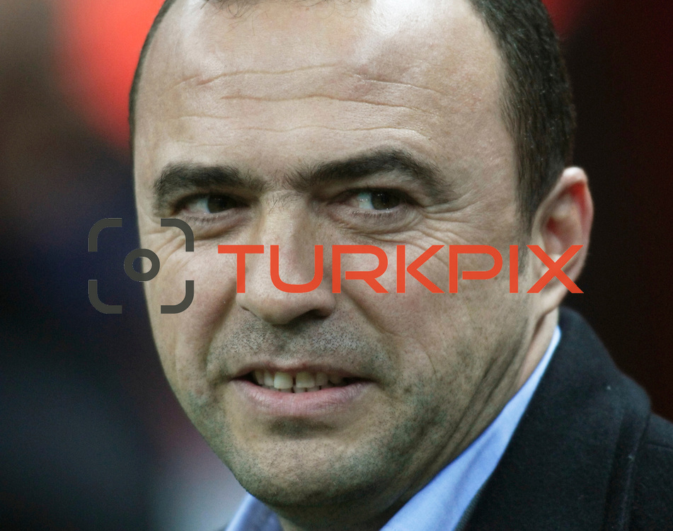 IBBSpor's coach Arif Erdem during their Turkish Super League soccer match Galatasaray between IBBSpor at the TT Arena at Seyrantepe in Istanbul Turkey on Tuesday, 03 January 2012. Photo by TURKPIX