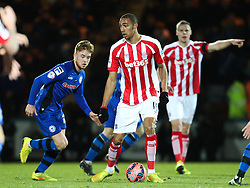 Stoke City's Steven N'Zonzi in action - Photo mandatory by-line: Matt McNulty/JMP - Mobile: 07966 386802 - 26/01/2015 - SPORT - Football - Rochdale - Spotland Stadium - Rochdale v Stoke City - FA Cup Fourth Round