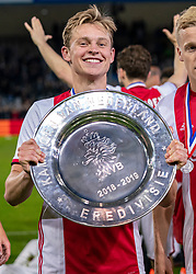 15-05-2019 NED: De Graafschap - Ajax, Doetinchem<br /> Round 34 / It wasn't really exciting anymore, but after the match against De Graafschap (1-4) it is official: Ajax is champion of the Netherlands / Frenkie de Jong #21 of Ajax