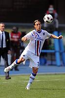 "Reto Ziegler Samp<br /> Verona, 3/04/2011 Stadio ""Bentegodi""<br /> Chievo-Sampdoria<br /> Campionato Italiano Serie A 2010/2011<br /> Foto Nicolo' Zangirolami Insidefoto"