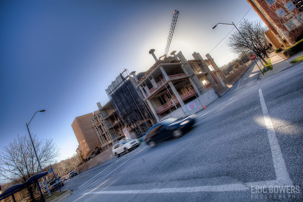 Demolition progress in March 2012 of the West Edge project in Kansas City, Missouri.