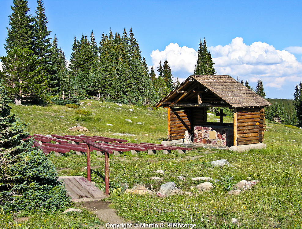 St. Alban's Chapel in the Snowy Range of the Medicine Bow Mountains, WY.