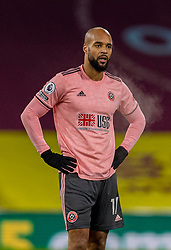 BURNLEY, ENGLAND - Tuesday, December 29, 2020: Sheffield United's David McGoldrick looks dejected during the FA Premier League match between Burnley FC and Sheffield United FC at Turf Moor. Burnley won 1-0. (Pic by David Rawcliffe/Propaganda)
