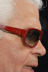 German fashion designer Karl Lagerfeld, wearing Christian Dior sunglasses, appears on the runway at the end of the Chanel Fall-Winter 2007-2008 Ready-To-Wear collection show held at the Grand Palais, in Paris, France on March 2, 2007. Photo by Guignebourg-Khayat-Taamallah/ABACAPRESS.COM