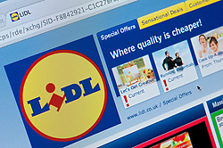 Detail of screenshot from website of Lidl home shopping and delivery service