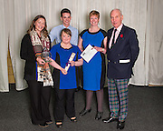 The 2015 Scottish Border Business Award winners for Micro Business of the Year for Business Innovation:  Aquarius Hair Design, Earlston. Standing with them is  Jack Clark, Convenor the SBCC, The award was sponsored by the Federation of Small Businesses.<br /> <br /> <br /> The 2015 Scottish Border Business Awards, held at Springwood Hall, Kelso. The awards were run by the Scottish Borders Chambers of Commerce, with guest speaker Keith Brown, MSP. The SBCC chairman Jack Clark and the presenter Fiona Armstrong co hosted the event.