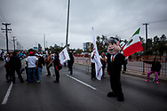 A puppet representing Andres Manuel Lopez Obrador, the favourite in this elections.