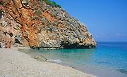 Beach and small bay Zingaro nature reserve, Scopello, Trapani province, Sicily, Italy