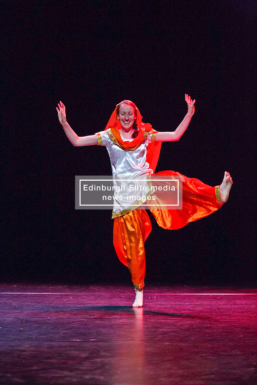 Pictured:  <br /> Mela on Your Doorstep event. A snapshot of the annual Glasgow Mela, which takes place next weekend, including music and dance. Tramway Bhangra Dance by APV <br /> Karen Gordon  (c) Edinburgh Elite media 10 July 2016