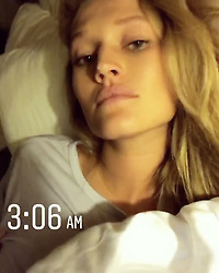 """Toni Garrn releases a photo on Instagram with the following caption: """"Nightshoots =jetlag = Instagram"""". Photo Credit: Instagram *** No USA Distribution *** For Editorial Use Only *** Not to be Published in Books or Photo Books ***  Please note: Fees charged by the agency are for the agency's services only, and do not, nor are they intended to, convey to the user any ownership of Copyright or License in the material. The agency does not claim any ownership including but not limited to Copyright or License in the attached material. By publishing this material you expressly agree to indemnify and to hold the agency and its directors, shareholders and employees harmless from any loss, claims, damages, demands, expenses (including legal fees), or any causes of action or allegation against the agency arising out of or connected in any way with publication of the material."""