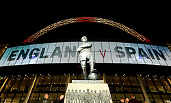 The Bobby Moore Statue outside Wembley ahead of the International Friendly Fixture between England and Spain - Mandatory by-line: Robbie Stephenson/JMP - 15/11/2016 - FOOTBALL - Wembley Stadium - London, United Kingdom - England v Spain - International Friendly
