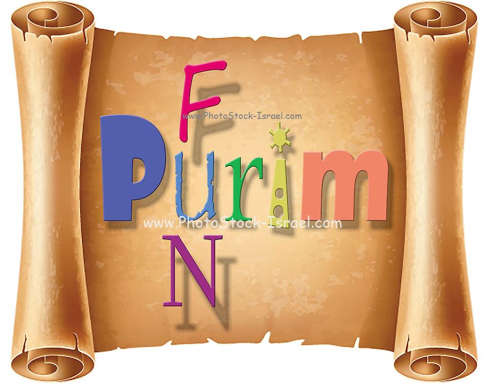 Happy joyous fun Purim In English