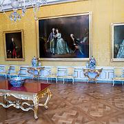 NLD/Den Haag/20190703 - Bezichtiging kamers paleis Huis ten Bosch, De Gele Balzaal met Haagse Annex in Paleis Huis ten Bosch