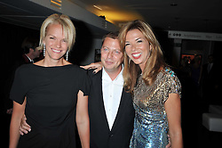 Left to right, ELISABETH MURDOCH, MATTHEW FREUD and HEATHER KERZNER at the annual GQ Awards held at the Royal Opera House, Covent Garden, London on 8th September 2009.