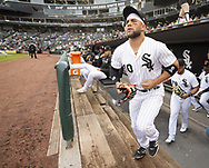 CHICAGO - MAY 16:  Yoan Moncada #10 of the Chicago White Sox takes the field against the Toronto Blue Jays on May 16, 2019 at Guaranteed Rate Field in Chicago, Illinois.  (Photo by Ron Vesely)  Subject:  Yoan Moncada