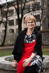 Portrait of Cvetka Sokolov, Slovenian youth writer and poet  and university professor, on February 27, 2020 in Ljubljana, Slovenia. Photo by Vid Ponikvar / Sportida