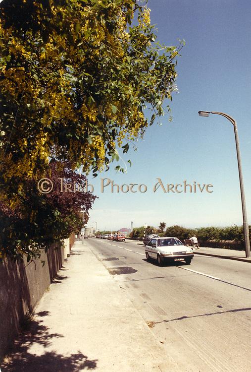 Old amateur photos of Dublin streets churches, cars, lanes, roads, shops schools, hospitals Sandymount april 1992 April 1992