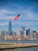 The best view of the One World Trade Center is from Liberty Island in New York Harbor.