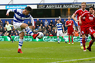 QPR forward Ilias Chair (33) scores a goal (score 2-1)  during the EFL Sky Bet Championship match between Queens Park Rangers and Birmingham City at the Loftus Road Stadium, London, England on 28 April 2018. Picture by Andy Walter.