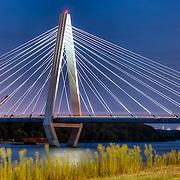 The Kit Bond Bridge over the Missouri River in Kansas City, August 2011.