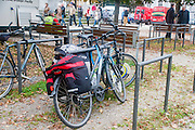 Cycling on the Danube bicycle Path. Passau Germany to Vienna Austria Bicycles with stuffed panniers