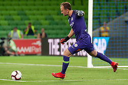 January 11, 2019 - Melbourne, VIC, U.S. - MELBOURNE, VIC - JANUARY 11: Melbourne City goalkeeper Eugene Galekovic (18) goes for a goal kicks at the Hyundai A-League Round 13 soccer match between Melbourne City FC and Brisbane Roar FC at AAMI Park in VIC, Australia 11th January 2019. (Photo by Speed Media/Icon Sportswire) (Credit Image: © Speed Media/Icon SMI via ZUMA Press)