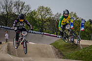 #551 (FRIESWYK Corey) AUS and #747 (TURNER Bodi) AUS at the 2016 UCI BMX Supercross World Cup in Papendal, The Netherlands.