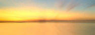 USA, Louisiana, New Orleans. Abstracted image of a vibrant sunset over Lake Pontchartrain.