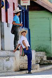 Men Waiting For Bus