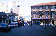 Historic buildings in  old part of the city centre, Vigo, Spain 1999