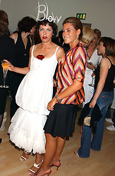 Left to right, ISABELLA BLOW and FRANCESCA VERSACE at the launch of 'Blow Lips' a new lipstick by Isabella Blow and MAC Makeup held at the the Blow de la Barra Gallery, 35 Heddon Street, London on 7th September 2005.<br /><br />NON EXCLUSIVE - WORLD RIGHTS