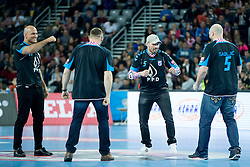UFC Fighters during handball match between PPD Zagreb (CRO) and Paris Saint-Germain (FRA) in 11th Round of Group Phase of EHF Champions League 2015/16, on February 10, 2016 in Arena Zagreb, Zagreb, Croatia. Photo by Urban Urbanc / Sportida
