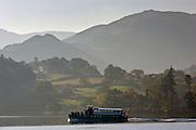 Ferry on Lake Ullswater, Lake District, England, United Kingdom