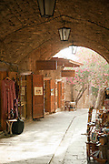 Shops in a narrow street in the souq at Byblos, a small coastal town in Lebanon