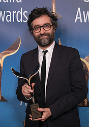 February 17, 2019 - Los Angeles, California, United States of America - Mathieu Demy, accepting the Jean Renoir Award for International Screenwriting Achievement on behalf of Agnes Varda, poses in the press room of the 2019 Writers Guild Awards at the Beverly Hilton Hotel on Sunday February 17, 2019 in Beverly Hills, California. JAVIER ROJAS/PI (Credit Image: © Prensa Internacional via ZUMA Wire)