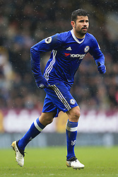 12th February 2017 - Premier League - Burnley v Chelsea - Diego Costa of Chelsea - Photo: Simon Stacpoole / Offside.