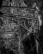 Wrought ironwork that would have held up a glass roof inside an abandoned building in Manaus, Amazonia, Brazil. Photo by Andrew Tobin/Tobinators Ltd